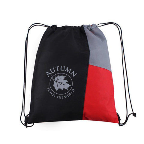 13W x 15H Inch Side Color Drawstring Backpack (Q458611)