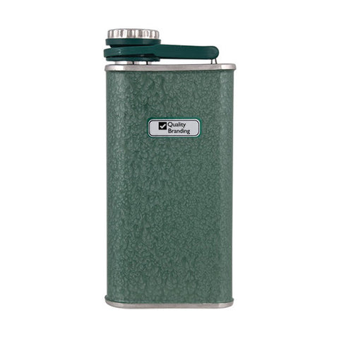 Promotional Stanley Classic Flask 8oz. - Hammertone Green (Q462075) -  - 1