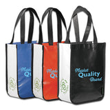 Logoed Laminated Non-Woven Small Shopper Tote (Q46255) -  - 1