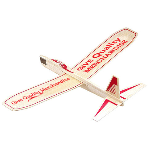 "Imprinted Quality Balsa Glider (12"" wing span) (Q50755) -  - 1"