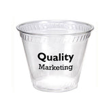 Clear Plastic Squat Cup (9 oz)  with Logo (Q510675)
