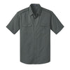 Custom Port Authority® Stain-Resistant Short Sleeve Twill Shirt (Q525265) -  - 3