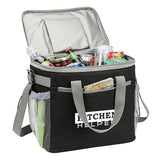 600D Polyester Cooler Bag (36 can)  Imprinted with Logo (Q545311)