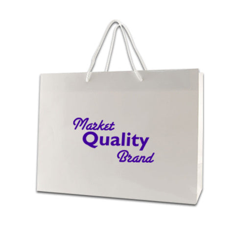 "Custom Color Gloss Laminated Tote (16"" x 6"" x 12"") (Q56340) -  - 1"