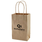 Personalized 50% Recycled Natural Kraft Shopping Bags (Q56671) -  - 1