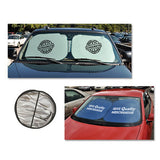 Square Car Auto Sunshade  Imprinted with Logo (Q57840)
