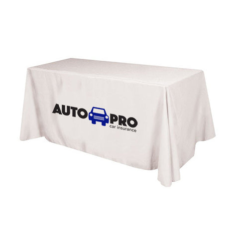 Logoed Flat 4-sided Table Cover (6 ft ) (Q58248) -  - 1