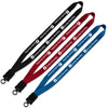"Personalized 3/4"" Smooth Nylon Lanyard with Snap-Buckle Release & O-Ring (Q58337) -  - 1"