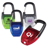 Translucent Reflector Key Lights with Carabiners  Imprinted with Logo (Q583411)
