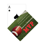 Football Pattern Playing Cards  Imprinted with Logo (Q596411)