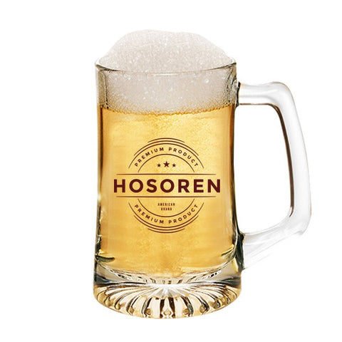 15 Oz. Arc Glass Beer Mugs (Q597711)