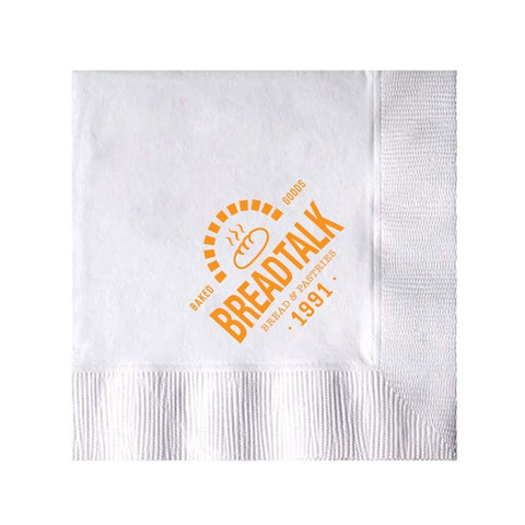White 3-Ply Beverage Napkins  Coin edge Embossed (Q61484)