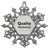 Pewter Snowflake Ornament  Imprinted with Logo (Q61660)