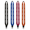 "Custom 3/4"" Neoprene Lanyard with Plastic Clamshell & O-Ring (Q6337) -  - 1"
