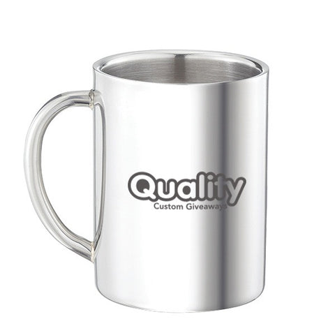 Double Wall Stainless Steel Mug (9 oz) (Q643255)