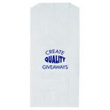 "Imprinted White Prescription Bag  (5"" x 2"" x 10"") (Q6448) -  - 1"