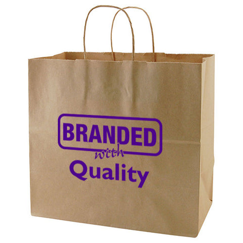 "Promotional 50% Recycled Natural Kraft Shopping Bags (13"" x 7"" x 12.5"" x 7"") (Q66671) -  - 1"
