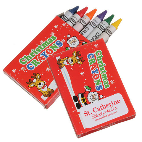 6 Pack Christmas Crayons (Q682411)