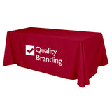 Flat 4-sided Table Cover (8 ft)  with Logo (Q68248)