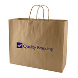 "Promotional 50% Recycled Natural Kraft Shopping Bags (16"" x 6"" x 13"" x 6"") (Q68794) -  - 1"