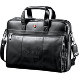 Personalized Wenger® Executive Leather Business Brief (Q693865) -  - 1
