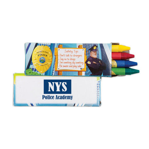 4 Pack Police Wax Crayons (Q718411)