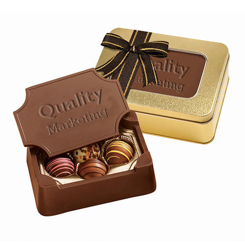 Personalized Small Chocolate Box with Truffles (Q72514) -  - 1