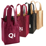 4 Bottle Wine Totes  with Logo (Q743235)