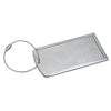 Logoed Prestige Brushed Metal Luggage Bag Tag (Q76450) -  - 2