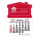 2020 Peel-N-Stick® Magnetic House Shape Calendars  Imprinted with Logo (Q764711)