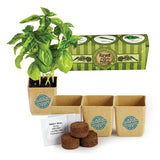 GrowPot Eco-Planter Herb 3-Pack  Imprinted with Logo (Q767511)