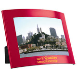 "4"" x 6"" The Curve Photo Frame  Imprinted with Logo (Q770565)"