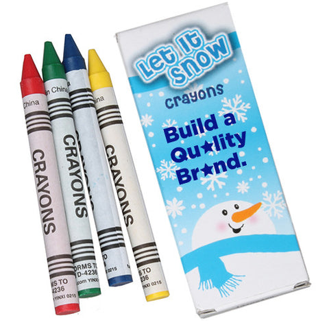 4 Pack Winter Crayons (Q782411)