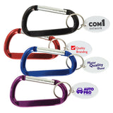 Metal Carabiner Keytags  Imprinted with Logo (Q793411)