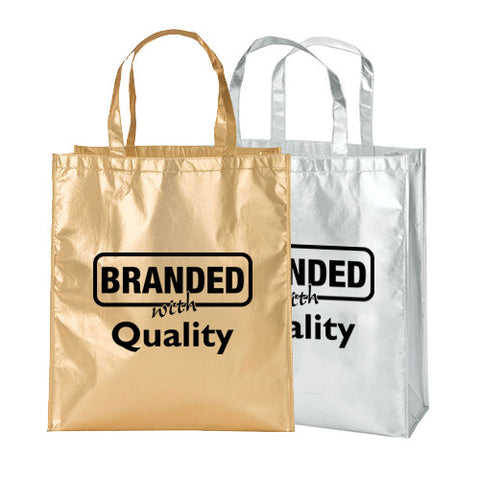 Custom Metallic Tote Bag (Q827235) -  - 1