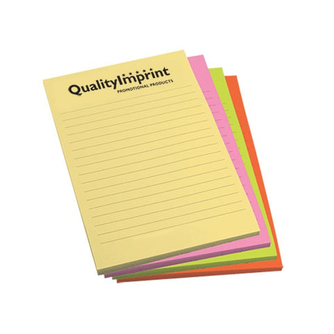 "Post-it® Custom Printed Multi-Color Packs (4"" x 6"") (Q83139)"