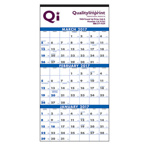3-Month Planners/Calendars (4-Sheet) (Q831411)