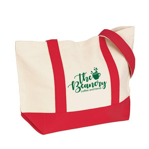 12 oz. Cotton Duck Medium Snap Tote Bag (Q876311)