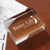 Rectangle Paperweight Award  with Logo (Q889511)