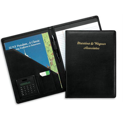 Personalized Milan Pad Folder with Calculator (Q88974) -  - 1