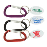 Small Metal Carabiner Keytags  Imprinted with Logo (Q893411)