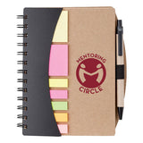 Imprinted Mini Journal with Pen  Flags & Sticky Notes (Q901765) -  - 1