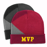 Logoed Port Authority® Cuffed Colorblock Beanie (Q905676) -  - 1
