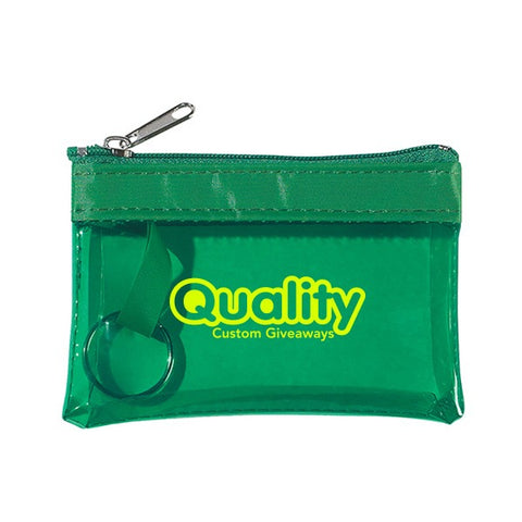 Translucent Zippered Coin Pouch (Q909235)