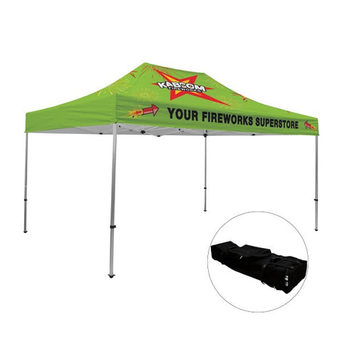 Full-Bleed Dye Sublimation - 15' Premium Aluminum Tent Kit (Q921711)