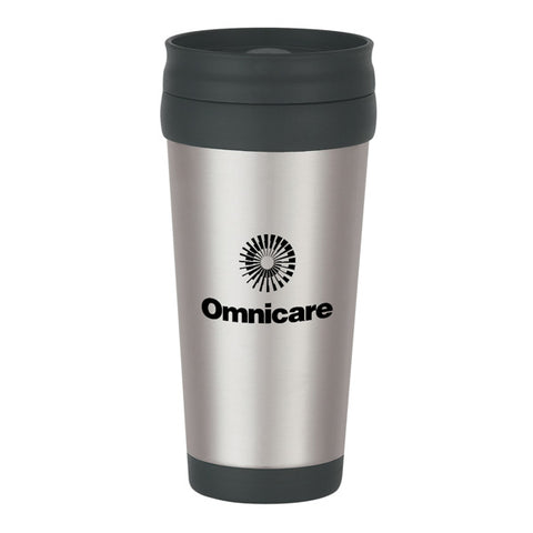 16 Oz. Stainless Steel Slide Action Travel Tumblers (Q928711)