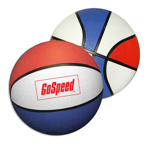 "7""D Red White and Blue Rubber Basketballs (Q950311)"