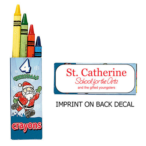 4 Pack Holiday Crayons (Q972411)