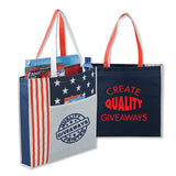 Logoed Non-Woven Polypropylene National Flag Convention Tote Bags (Q988311) -  - 1
