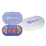 3 Compartment Oval Shaped Pill Holders  Imprinted with Logo (Q994411)